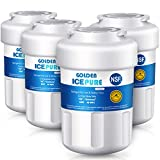 GOLDEN ICEPURE MWF Refrigerator Water Filter, Compatible with GE MWF Water Filters for Refrigerators, MWFP, MWFA, GWF, GWFA, Kenmore 469991, 4-PACK