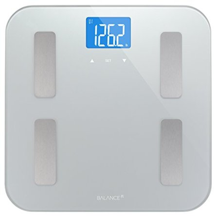 Digital Body Fat Weight Scale by Balance, Accurate Health Metrics, Body Composition & Weight Measurements, Glass Top,