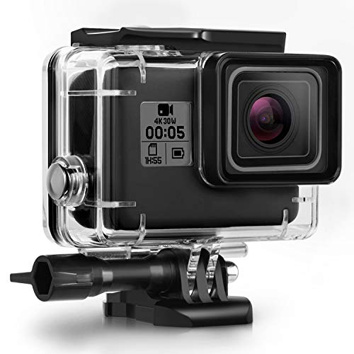 Kupton-Waterproof-Case-for-GoPro-Hero-7-Black-Hero-5-6-Accessories-Housing-Case-Diving-Protective-Housing-Shell-45-Meter-for-Go-Pro-Hero7-Hero6-Hero5-Hero-2018-Action-Camera-with-Bracket-Accessories