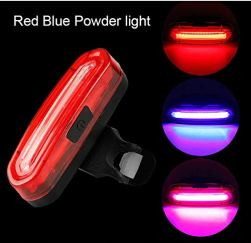 FASTPED Bicycle Smart Back Tail Light 120LMN USB Rechargeable Multi Color Change (RED + Blue) Riding Rear Light Waterproof Safety Warning MTB.