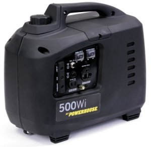 Powerhouse 60370 500Wi, 450 Running Watts/500 Starting Watts, Gas Powered Portable Inverter, CARB Compliant