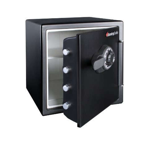 SentrySafe Fire and Water Safe, Extra Large Combination Safe, 1.23 Cubic Feet, SFW123CS