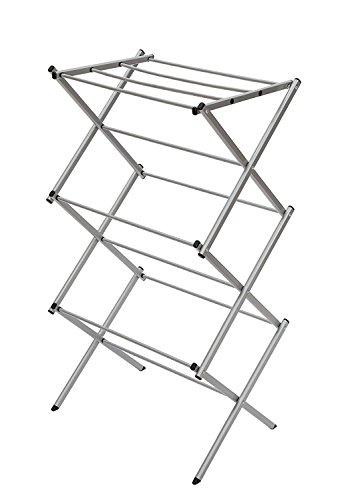 StorageManiac 3-tier Folding Water-Resistant Compact Steel Clothes Drying Rack - 22.44x14.57x41.34 - Inches