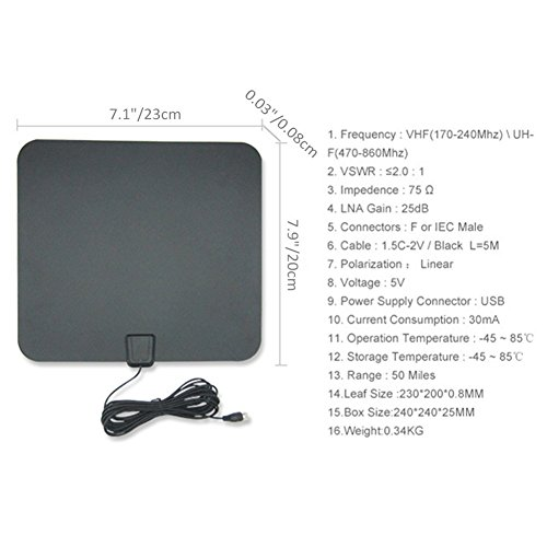 Tv Antennas For Digital Tv 200 Mile Range Indoor