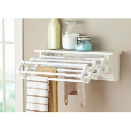 Better Homes and Gardens Wall-Mounted Drying Rack, White