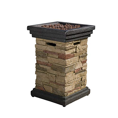 "Christopher Knight Home Troy Outdoor 19"" Liquid Propane Fire Column"