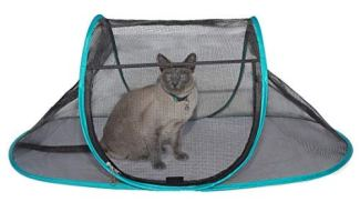 Nala and Company - The Cat House Outdoor Pet Enclosure for Indoor Cats - Portable, View, Pop Up Lounger Tent for Deck, Patio, Porch, Yard, Balcony & RV Travel - Includes Storage Pouch