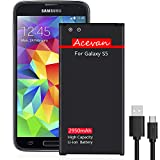 Galaxy S5 Battery Acevan 2950mAh Li-ion Battery Replacement for Samsung Galaxy S5, Verizon G900V, Sprint G900P, T-Mobile G900T, AT&T G900A, G900F, G900H, G900R4, I9600 [3 Year Warranty]