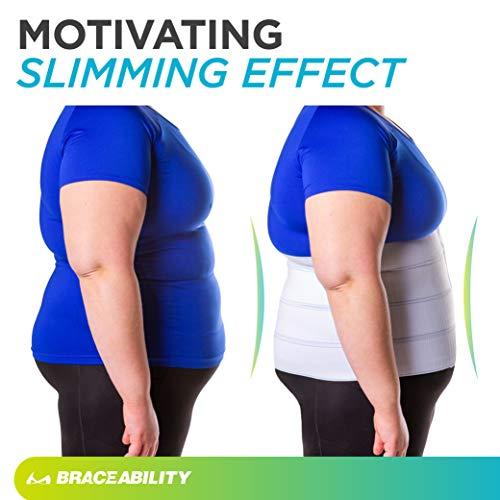 BraceAbility 4XL Plus Size Bariatric Abdominal Stomach Binder | Obesity Girdle Belt for Big Men & Women with a Large Belly, Post Surgery Tummy & Waist Compression Wrap 7