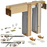Johnson Hardware 1500 Soft Close Series Commercial Grade Pocket Door Frame for 2x4 Stud Wall (36 inch x 80 inch)