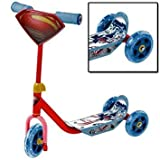Character Superman 'Man of Steel 3 Wheel' Scooter Toys