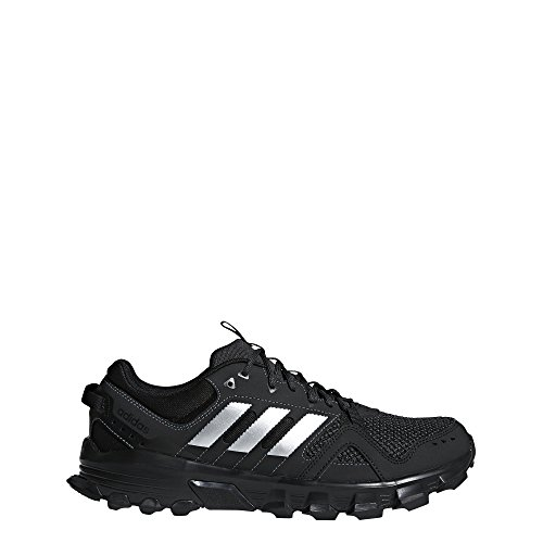 adidas Men's Rockadia m Trail Running Shoe, Core Black/Matte Silver/Carbon, 11.5 M US