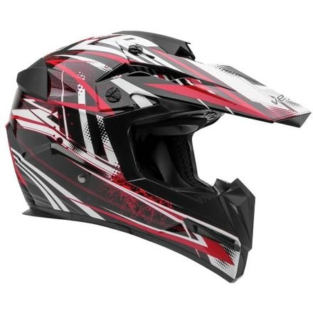 Vega Helmets MIGHTY X Kids Youth Dirt Bike Helmet – Motocross Full Face Helmet for Off-Road ATV MX Enduro Quad Sport, 5 Year Warranty (Red Blitz Graphic,Small)