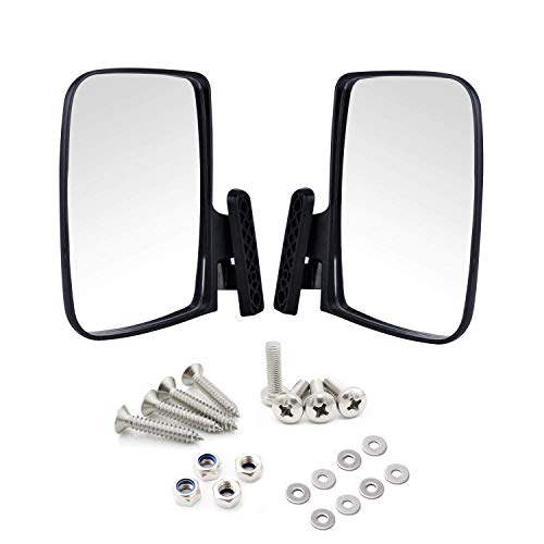 Universal Golf Cart Side View Mirrors for EzGo Club Car Yamaha, Moveland RHOX Style Accessories