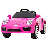Uenjoy Kids Electric Ride on Cars 6v Battery Power Motorized Vehicles, Remote Control, Suspension, Music, Headlights, Horn, Pink