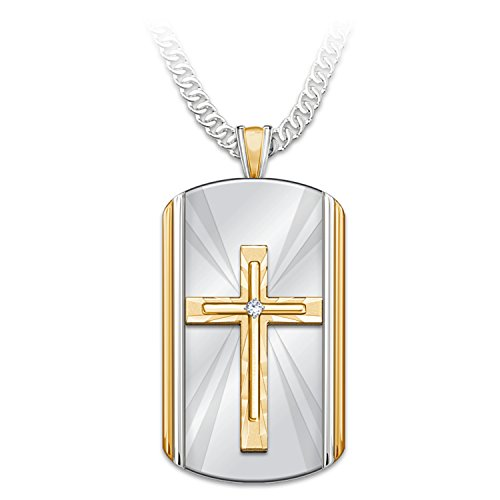 Bradford Exchange Always with You Stainless Steel Dog Tag Pendant Necklace by The