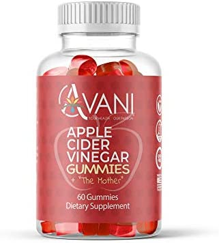 Avani Health Apple Cider Vinegar Gummies with The Mother - Gluten Free Apple Cider Vinegar - Immune Support, Detox Cleanse, Weight Loss, Belly Fat Burner - Vegan Gummies 60 Count 1