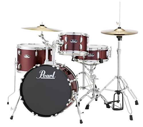 Pearl RS584CC91 Roadshow 4-Piece Drum Set, Wine Red