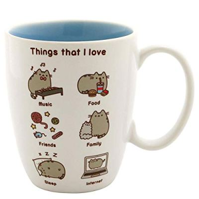 """Pusheen by Our Name is Mud """"Things Pusheen Loves"""" Stoneware..."""