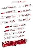 Milwaukee Electric Tool 49-22-1129 Sawzall Reciprocating Saw Blade Set, 12 Pc
