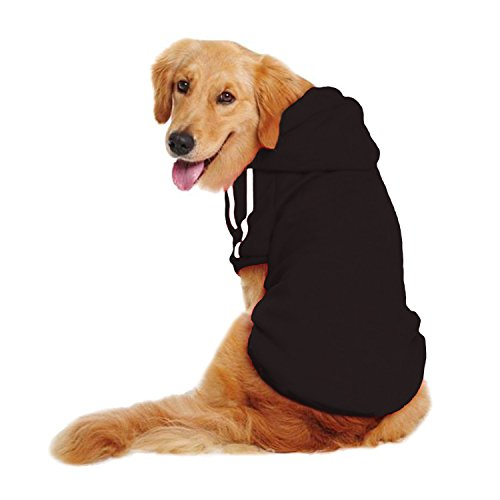 LESYPET Dog Sweater Hoodie - Big Dog Hoodies Sports Clothes, 5XL, Black