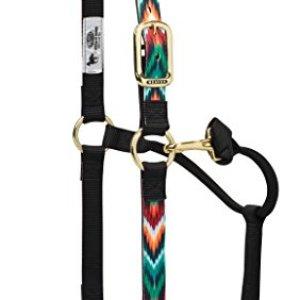 Weaver Leather Adjustable Patterned Nylon Horse Halter