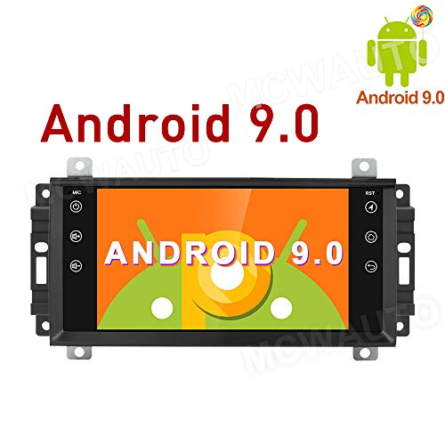 MCWAUTO 9 Inch Android 9.0 Car Media Player for Dodge Ram Challenger Jeep Wrangler JK Head Unit Auto GPS Navigation with 4G WiFi Bluetooth Radio