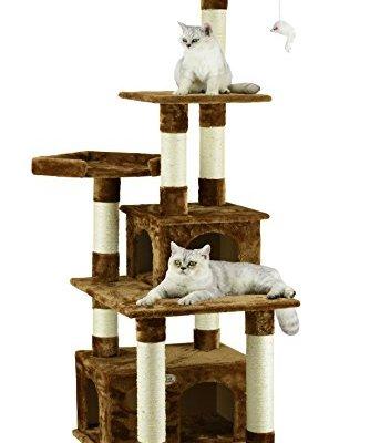 Go Pet Club Cat Condo, 67-Inch, Brown