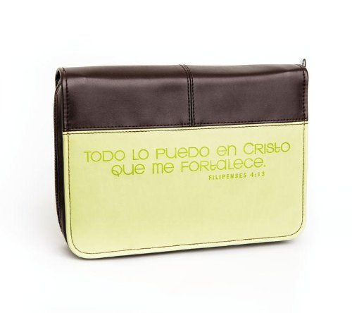 Todo lo puedo / I Can Do Everything Bible Cover: Verde/Cafe (Spanish Edition)