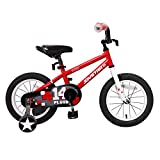 JOYSTAR 14'' Kids Bike with Training Wheel for 3 4 5 Years Boys & Girls, Unisex Kids Bicycle for Child, BMX, Red