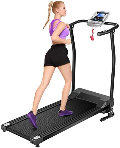 Mauccau Folding Treadmill for Home, Electric Treadmills with LCD Display Exercise Fitness Trainer Walking Running Machine 1