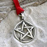 Trilogy Jewelry Pewter Pentagram Pagan Wiccan Pentacle Christmas Ornament and Holiday Decoration