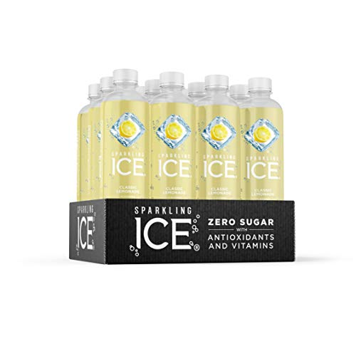 Sparkling Ice, Classic Lemonade Sparkling Water, with Antioxidants and Vitamins, Zero Sugar, 17 fl oz Bottles (Pack of 12) 3