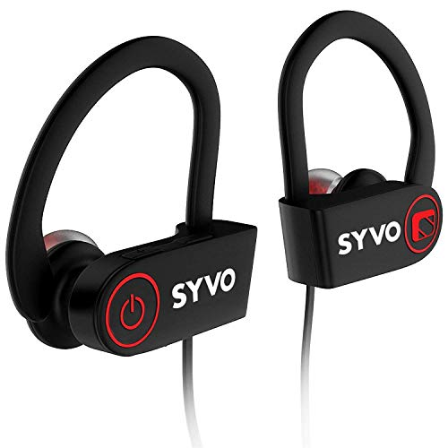 Syvo Flame Wireless Bluetooth Earphones with Microphone IPX7 Waterproof Sports Design with Carry Case, HD Sound, Super Bass (Black) 3