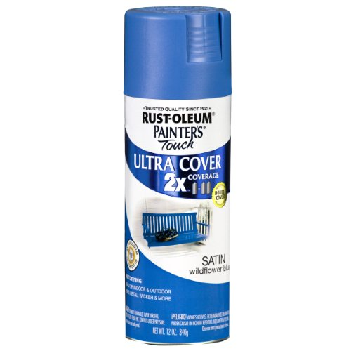 Rust-Oleum 249062 Painter's Touch Multi Purpose Spray Paint, 12-Ounce, Satin Wildflower Blue
