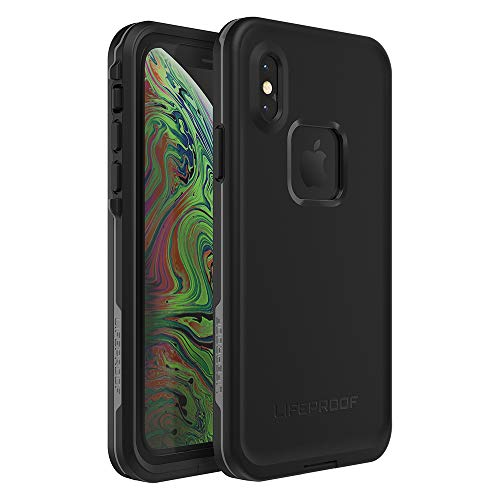 Lifeproof FRĒ Series Waterproof Case for iPhone Xs (ONLY) - Retail Packaging - Asphalt (Black/Dark Grey)