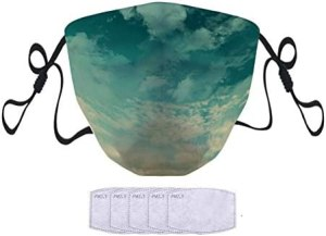 FQJNS Face Scarf Mask Men Women Comfortable Fashion Sport Mask with Filters Adjustable Earloop Unisex