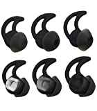 ALXCD Ear Tips for BOSE SoundSport Free Headphone, S/M/L 3 Pair Replacement Soft Silicone Earbud Tips, Fit for Bose Quietcontrol 30 QC30 Sound Sport Free Headphone(Black)