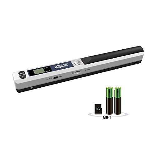 MSRM Wand Portable Document & Image Scanner/USB Mobile Scanner Include 8G Micro SD Card and Battery [Silver]