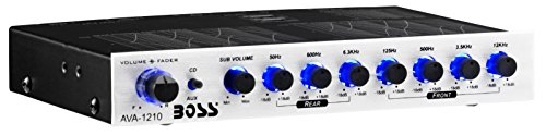 BOSS Audio AVA1210 7 Band Pre-Amp Car Equalizer With Gold-Plated Front/Rear and Subwoofer Outputs