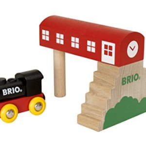 Brio World – 33615 Classic Bridge Station | 2Piece Train Toy with Bridge Accessory for Kids Ages 2 & Up 41K 2BhdrC7KL