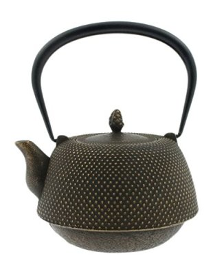 Iwachu Japanese Iron Tetsubin Teapot, Brown