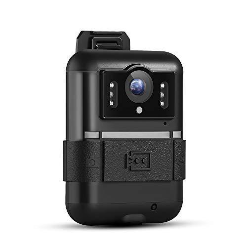 BOBLOV 1296P WiFi Body Mounted Camera Novatek 96650 Night Vision Body Worn Cameras 140 Wide Angle (WN11(Build-in 64G Storage))