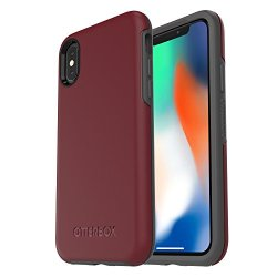 OtterBox SYMMETRY SERIES Case for iPhone X (ONLY) - Retail Packaging - FINE PORT (CORDOVAN/SLATE GREY)