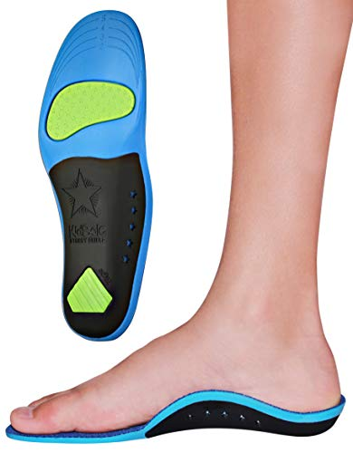 Children's Memory Foam Starry Shield Arch Support Insole for Comfort, Cushion & Arch Support by KidSole ((24 cm) Kids Size 2-6)