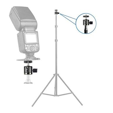UTEBIT-Mini-Ball-Head-with-14-Hotshoe-Mount-Adapter-360-Degree-Rotatable-Aluminum-Tripod-Head-for-DSLR-Cameras-HTC-Vive-Tripods-Monopods-Camcorder-Light-StandMax-Load-66lbs