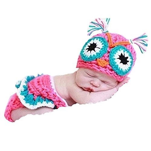 Eyourhappy Handmade Knitted Crochet Costume Baby Photography Props Owl