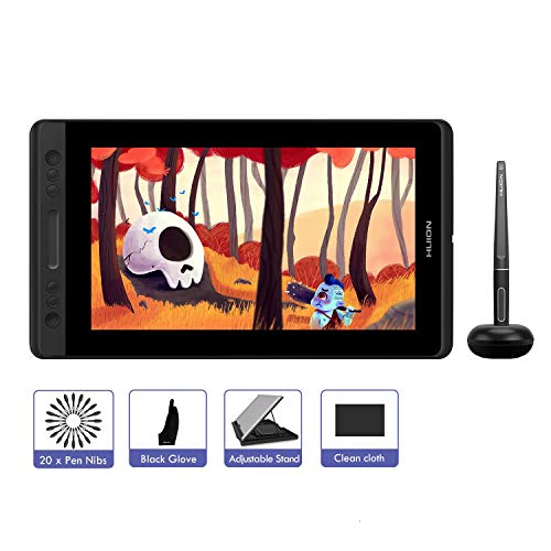 HUION KAMVAS Pro 13 Drawing Tablet, 13.3inch Graphics Tablet with Screen, Battery-Free Stylus, 8192 Pressure Sensitivity,Tilt Function, Digital Drawing Monitor for Windows Mac (GT-133)