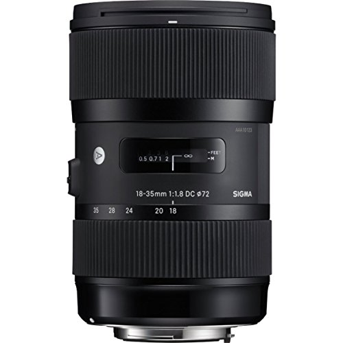 Sigma 210306 18-35mm F1.8 DC HSM Lens for Nikon APS-C DSLRs (Black)