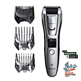 Panasonic Body and Beard Trimmer for Men ER-GB80-S, Cordless/Corded Hair Clipper, 3 Comb Attachments and 39 Adjustable Trim Settings, Washable
